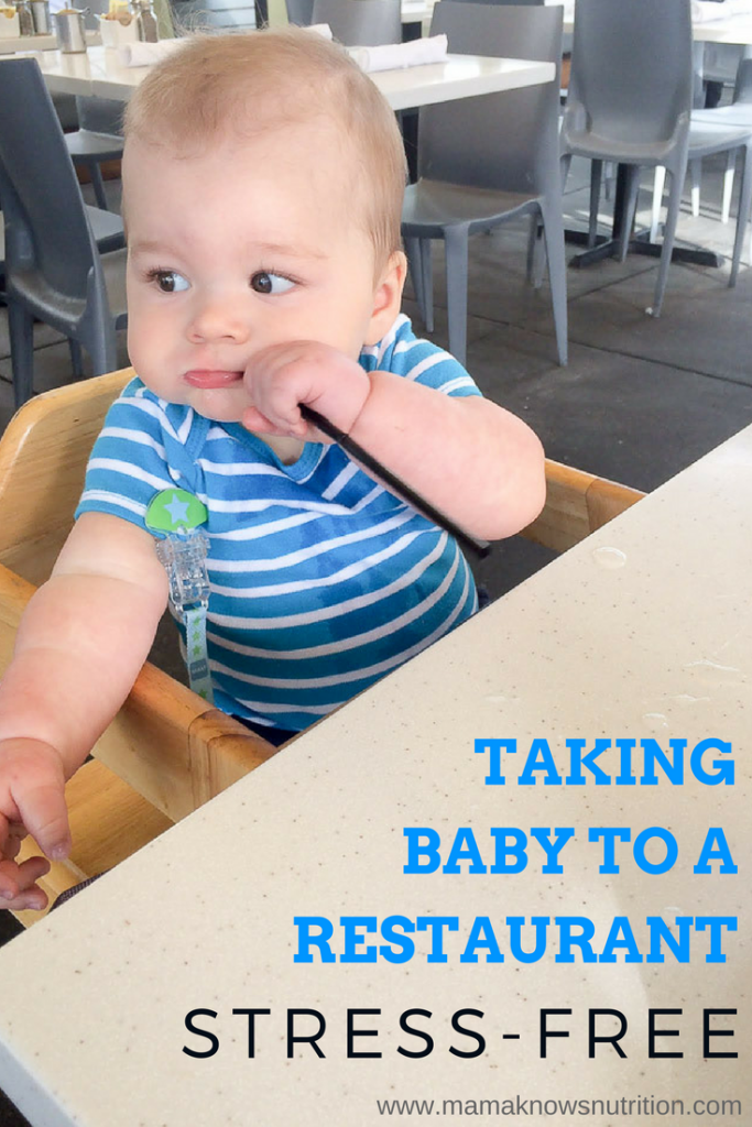 Taking your baby to a restaurant | mamaknowsnutrition.com