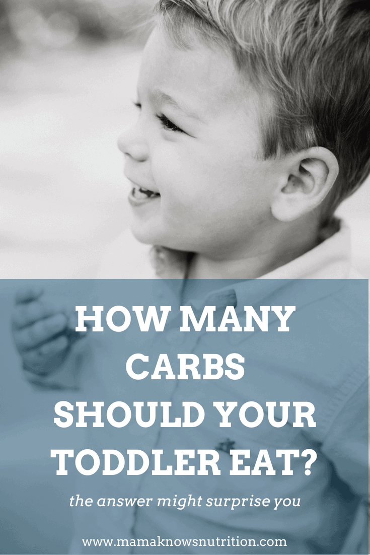 How many carbs should your toddler eat | www.mamaknowsnutrition.com
