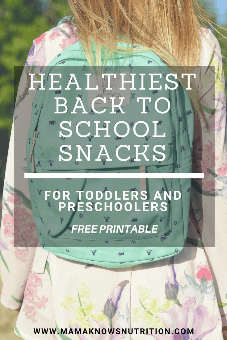 healthiest back to school snacks | mamaknowsnutrition.com